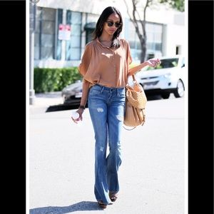 🐶 Black Orchid flare blue  jeans 25